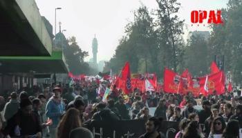 1 Mayo en Chile: Policía reprime acto de trabajadores