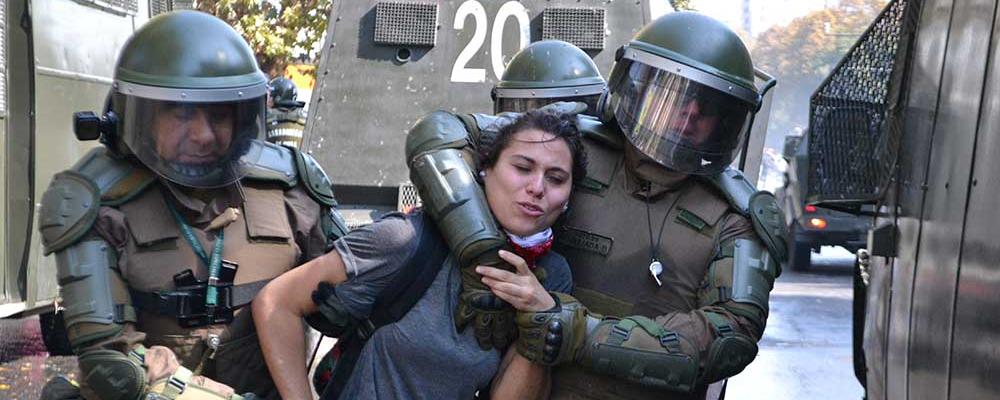 Resultado de imagen para represion del gobierno de piñera en chile
