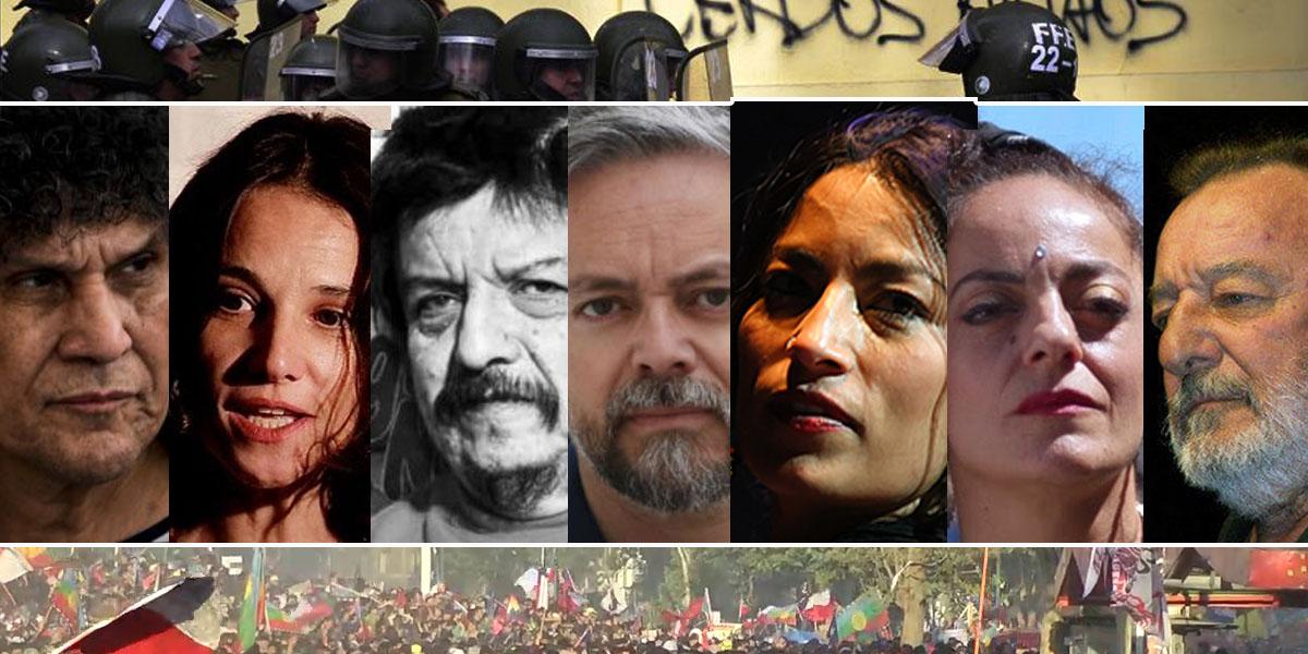 Artistas chilenos exigen la libertad de los presos políticos de la revuelta